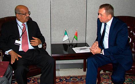 Встреча с министром иностранных дел Алжира Абделькадером Месахелем