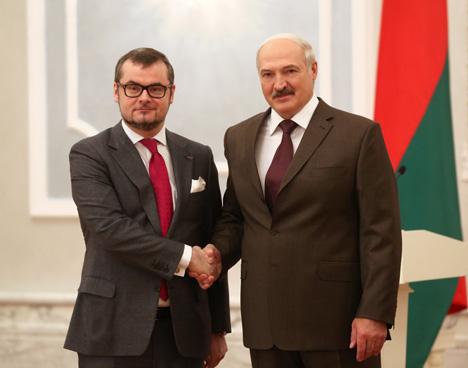 Александр Лукашенко принял верительные грамоты Чрезвычайного и Полномочного Посла Люксембурга в Беларуси Жана-Клода Кнебелера