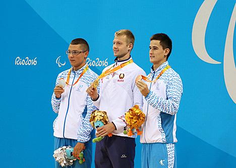 Пловец Игорь Бокий завоевал первое золото для белорусской сборной на Паралимпиаде в Рио