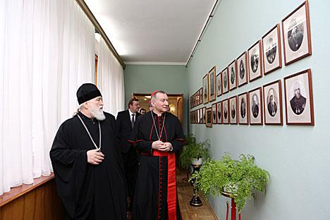 Главной темой встречи митрополита Павла и госсекретаря Ватикана стала проблема сохранения духовных ценностей