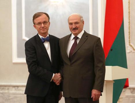 Александр Лукашенко принял верительные грамоты Чрезвычайного и Полномочного Посла Финляндии в Беларуси Кристера Густафа Микельссона