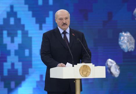 Александр Лукашенко на церемонии открытия Рождественского турнира