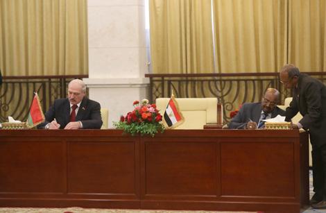 Беларусь и Судан заключили договор о дружественных отношениях и сотрудничестве