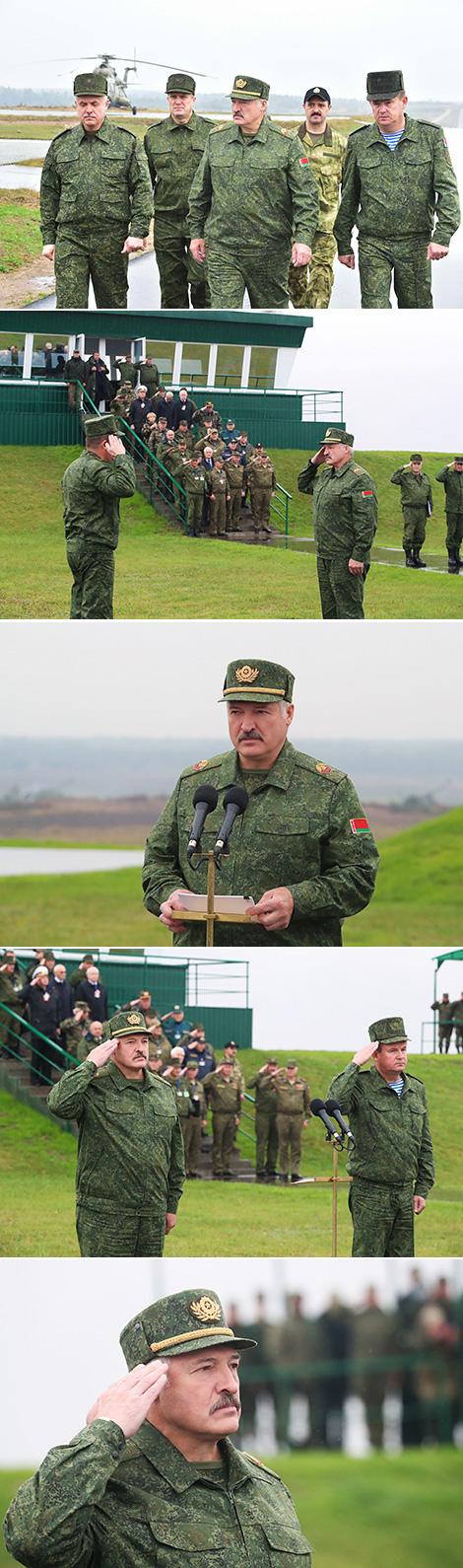 """Александр Лукашенко на учении """"Запад-2017"""""""