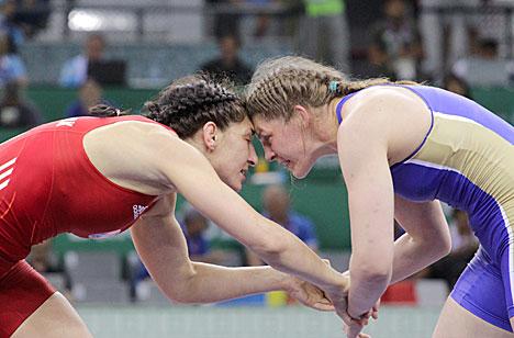 Белоруска Василиса Марзалюк завоевала золото Евроигр в тяжелом весе женской борьбы