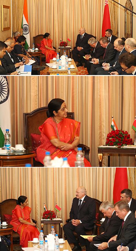 Переговоры с министром иностранных дел Индии Сушмой Сварадж