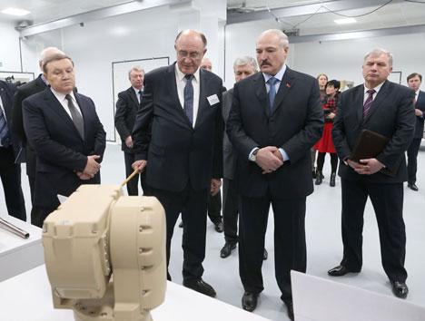 "Президент Беларуси Александр Лукашенко посетил ОАО ""Пеленг"""