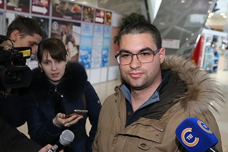 Турист из Италии Рикардо Бьянки прилетел в Беларусь без визы