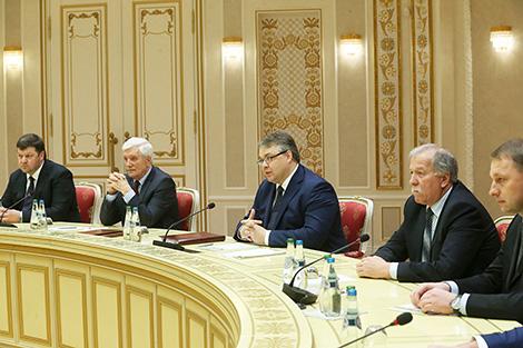 Переговоры с губернатором Ставропольского края России Владимиром Владимировым