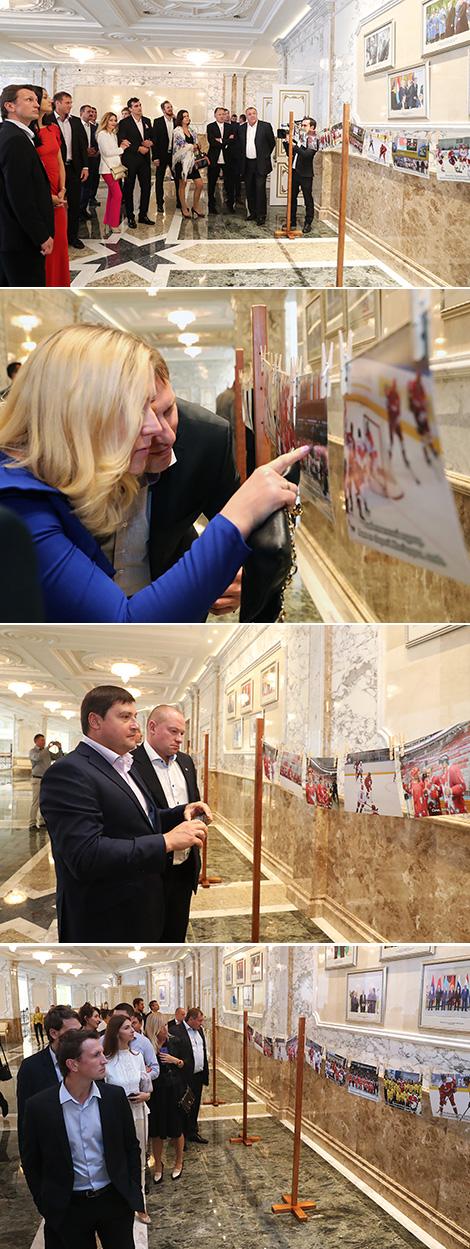 Прием по случаю 20-летия хоккейной команды Президента Беларуси во Дворце Независимости
