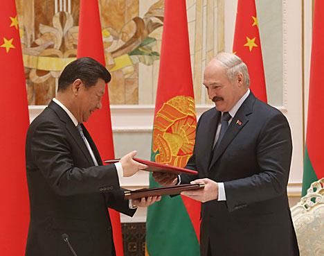 Главы государств подписали Договор о дружбе и сотрудничестве между Беларусью и Китаем
