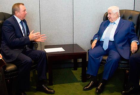Встреча с министром иностранных дел Алжира Абделькадером Месахелем Алжира Абделькадером Месахелем