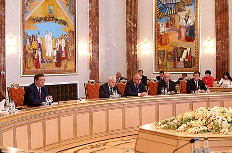 Встреча главы государства с главой Администрации Тамбовской области Олегом Бетиным