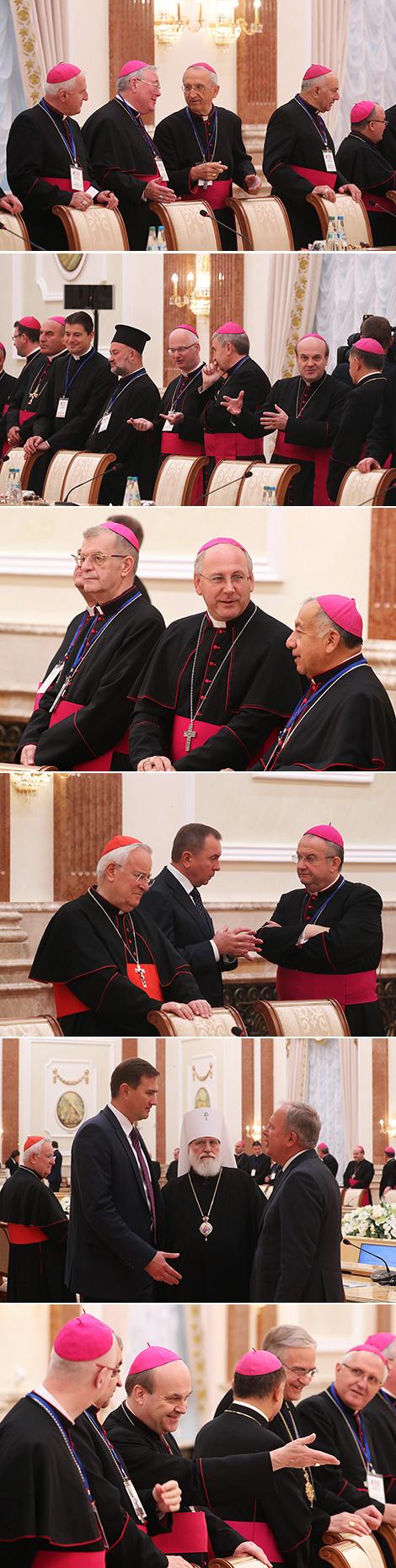 Встреча Александра Лукашенко с участниками пленарного заседания Совета епископских конференций Европы