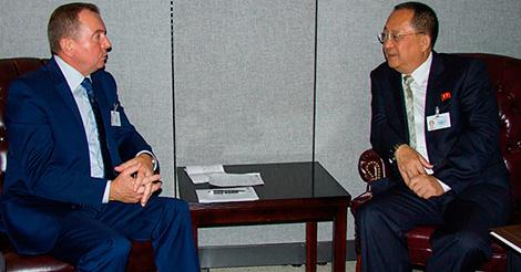 Встреча с министром иностранных дел КНДР Ли Ён Хо