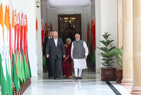 Официальные переговоры Президента Беларуси Александра Лукашенко и премьер-министра Индии Нарендры Моди