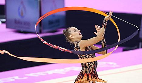 Belarus' Staniouta wins Individual All-Around bronze in Baku