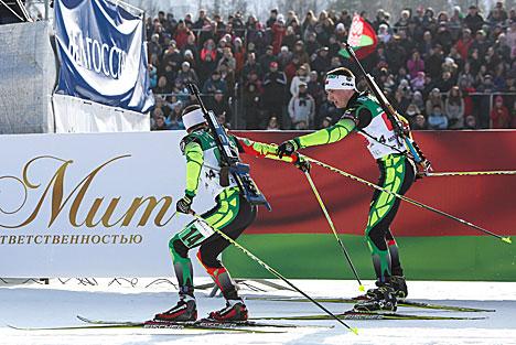 Pavel Poplavsky and Igor Karpyuk of Belarus
