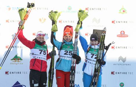 Winners of women's 10km Individual event