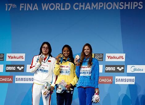 Gerasimenya wins bronze at FINA World Championships
