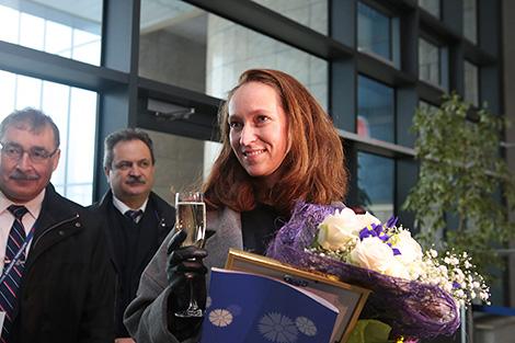 Minsk National Airport has welcomed its three-millionth passenger, Violetta Belitskaya