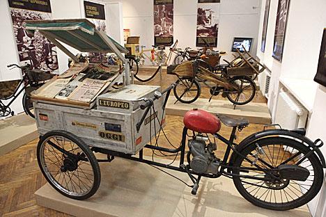 Italian vintage bikes on display in Minsk
