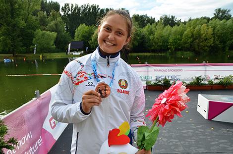 Anastasia Zhuk took bronze in the Women's C1-500m