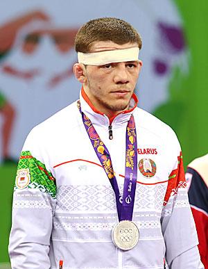 Soslan Daurov of Belarus claimed the 59kg Greco-Roman Wrestling silver