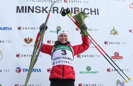 Ingrid Landmark Tandrevold won the 7.5K Youth Women's Pursuit gold