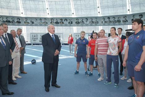 Team Belarus unveils Olympic uniforms