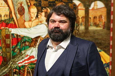 Belarusian painter Roman Zaslonov