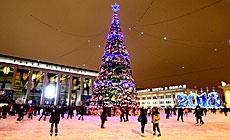 Christmas tree, Oktyabrskaya Square, Minsk