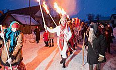 Folk ritual Kolyady (Christmas) Tsars