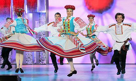 The Belarusian state academic dance company Khoroshki