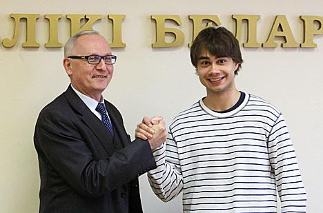 Rybak met with Culture Minister of Belarus Boris Svetlov