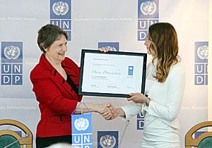 UNDP Administrator Helen Clark Darya Domracheva UNDP Goodwill Ambassador