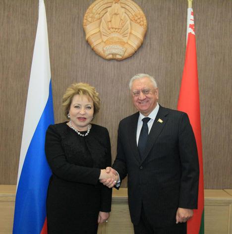 Matviyenko praises role of parliaments in Belarus-Russia relations
