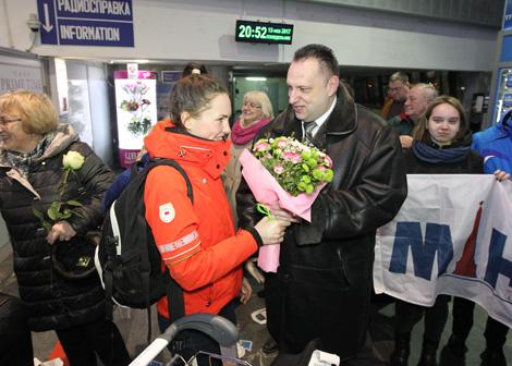 Two-time Universiade champion in speed skating Marina Zuyeva
