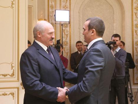 Alexander Lukashenko during his meeting with Chuvashia President Mikhail Ignatiev