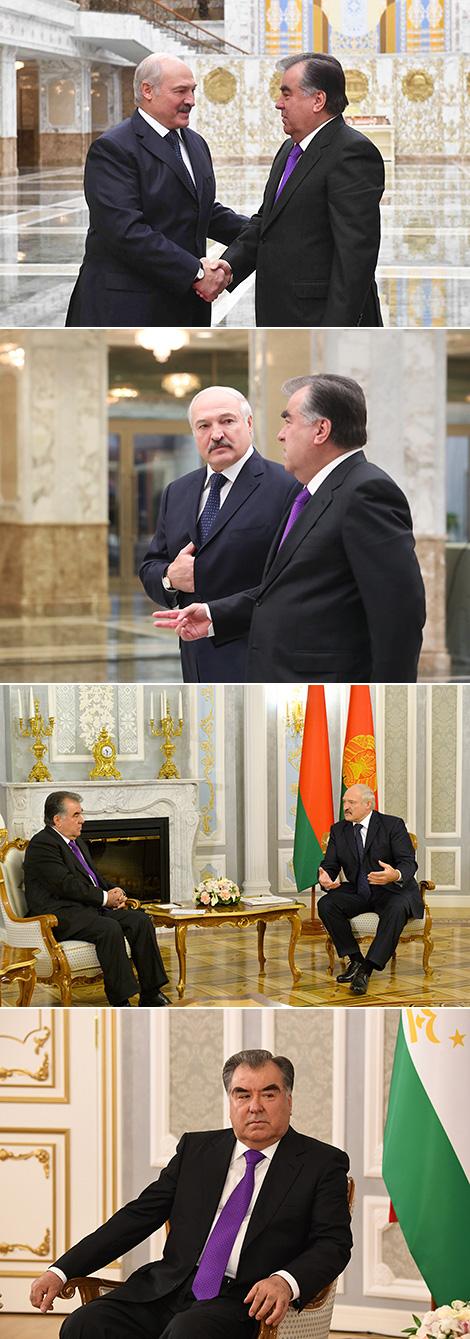 Talks with Tajikistan President Emomali Rahmon
