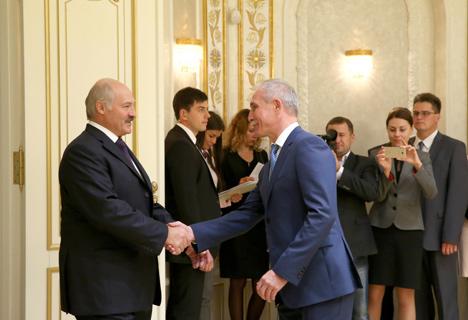 Belarus President Alexander Lukashenko met with Sergei Morozov, Governor of Russia's Ulyanovsk Oblast