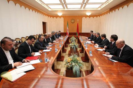 Vladimir Makei said met with his Iranian counterpart Mohammad Javad Zarif