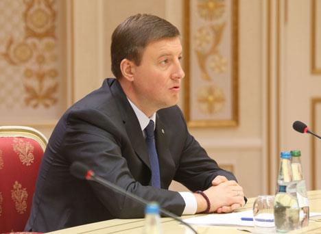 Belarus President Alexander Lukashenko met with Pskov Oblast Governor Andrei Turchak