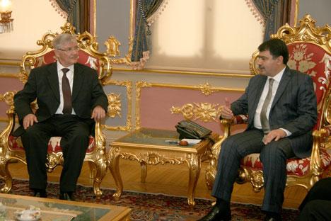 Istanbul Province Governor Vasip Sahin and Anatoly Rubinov