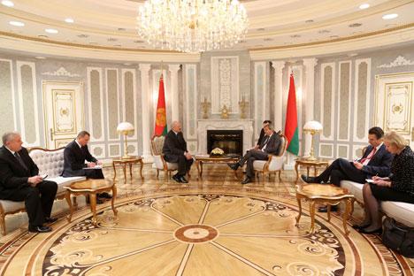Alexander Lukashenko met with European Commissioner for European Neighborhood Policy and Enlargement Negotiations Johannes Hahn