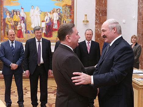 Lukashenko met with Alexander Mikhailov, Governor of Russia's Kursk Oblast