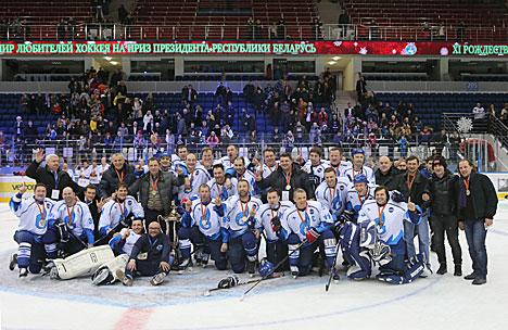 Team Russia wins the Christmas International Amateur Ice Hockey Tournament