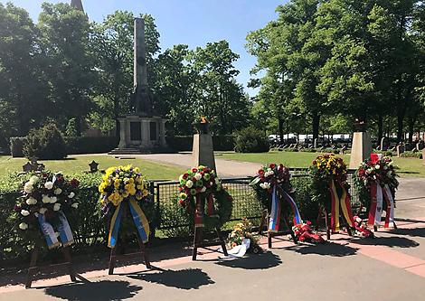 The Soviet military cemetery in Potsdam