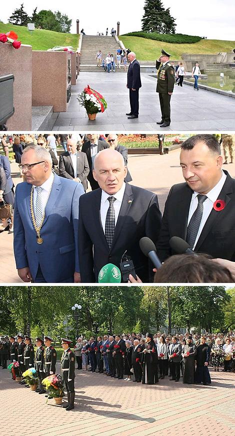 Commemorative events in Chernigov. Photo courtesy of Belarus' embassy in Ukraine