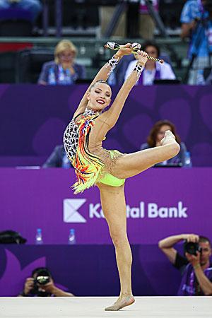 Мелитина Станюта завоевала бронзу Еропейских игр в упражнении с булавами